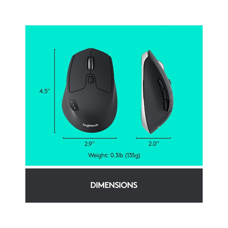 Logitech M720 Triathalon Multi-Device Wireless Mouse